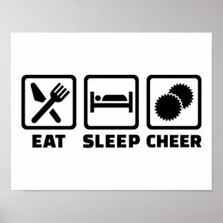 Eat sleep cheer poster