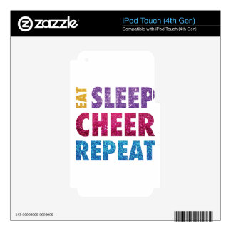 Eat Sleep Cheer Repeat-07 iPod Touch 4G Decals