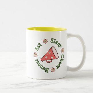 Eat Sleep Cheer Repeat Megaphone Cup Coffee Mugs