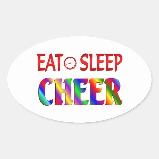 Eat Sleep Cheer Oval Stickers