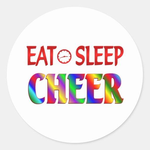 Eat Sleep Cheer Round Sticker