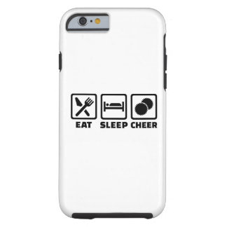 Eat sleep cheer tough iPhone 6 case