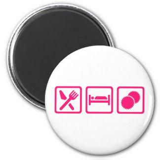 Eat sleep Cheerleading 2 Inch Round Magnet