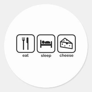 Eat Sleep Cheese Classic Round Sticker