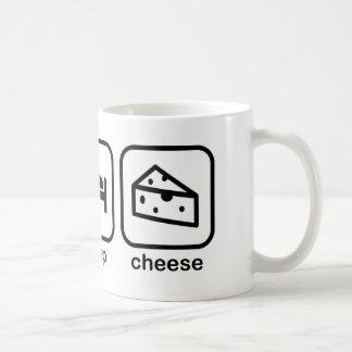 Eat Sleep Cheese Coffee Mug