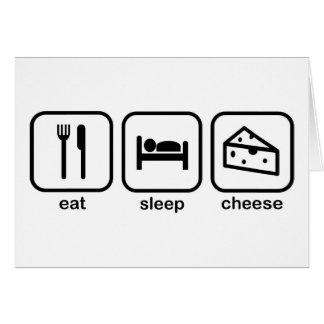 Eat Sleep Cheese Greeting Card