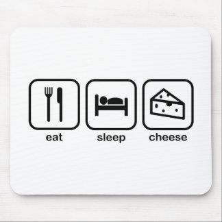 Eat Sleep Cheese Mouse Pad