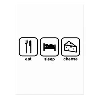Eat Sleep Cheese Postcard
