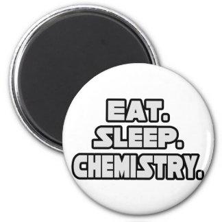 Eat Sleep Chemistry 2 Inch Round Magnet