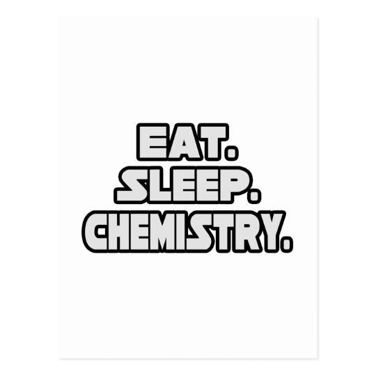 Eat Sleep Chemistry Postcard