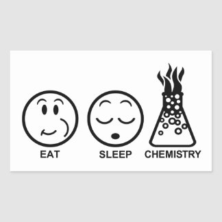 Eat Sleep Chemistry Rectangular Sticker
