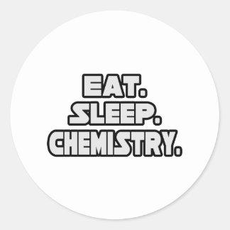 Eat Sleep Chemistry Classic Round Sticker