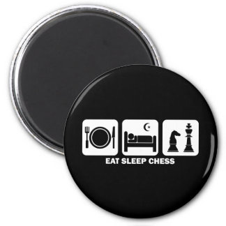 eat sleep chess magnet