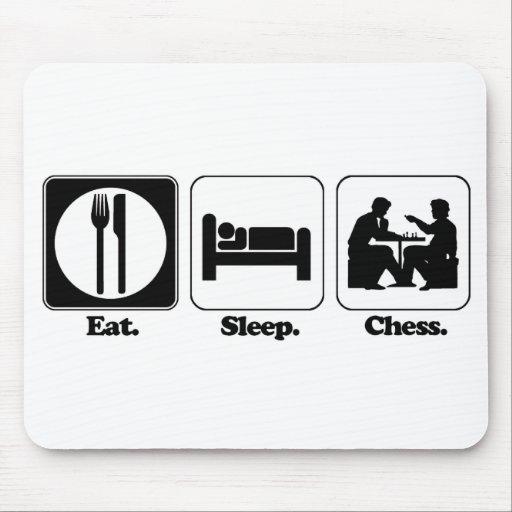 eat sleep chess mouse pad