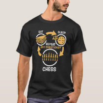 Eat Sleep Chess Repeat - Funny Chess T-Shirt