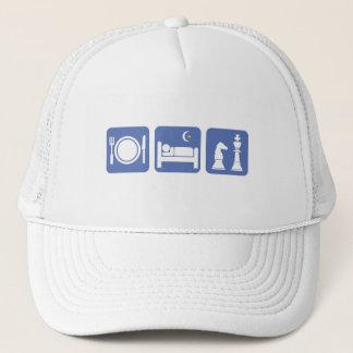 eat sleep chess trucker hat