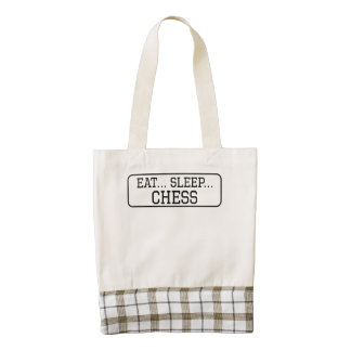Eat Sleep Chess Zazzle HEART Tote Bag