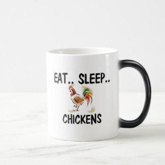 Eat Sleep CHICKENS Magic Mug