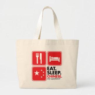 Eat Sleep Chinese Jumbo Tote Bag