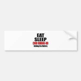 EAT SLEEP CHOI KWANG-DO CAR BUMPER STICKER