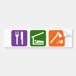 Eat Sleep Chopping Wood Bumper Stickers