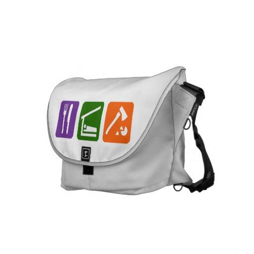Eat Sleep Chopping Wood Commuter Bag