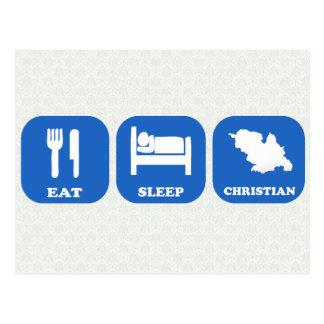 Eat Sleep Christian Postcard