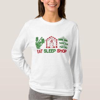 Eat Sleep Shop T-Shirts & Shirt Designs | Zazzle