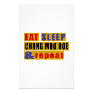 EAT SLEEP CHUNG MOO DOE AND REPEAT STATIONERY
