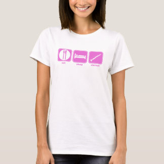 eat sleep clarinet pink T-Shirt