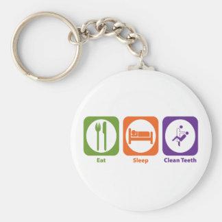 Eat Sleep Clean Teeth Key Chains