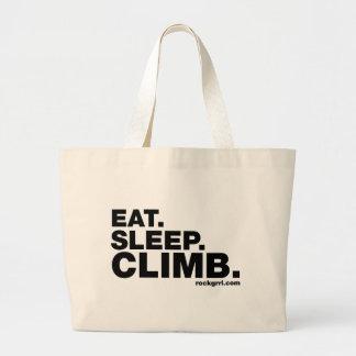 Eat Sleep Climb Canvas Bags