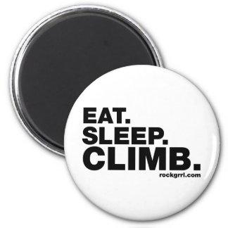 Eat Sleep Climb Fridge Magnet