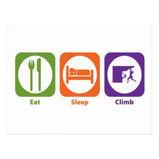 Eat Sleep Climb Postcard