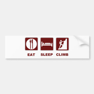 Eat Sleep Climb T-shirt and gift design Bumper Sticker