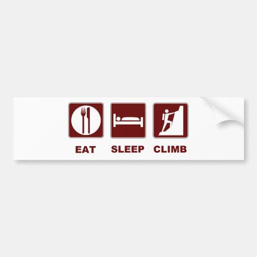 Eat Sleep Climb T-shirt and gift design Bumper Sticker