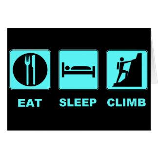 Eat Sleep Climb T-shirt and gift design Card