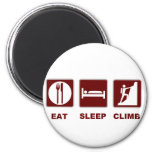 Eat Sleep Climb T-shirt and gift design 2 Inch Round Magnet