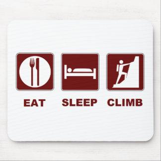 Eat Sleep Climb T-shirt and gift design Mouse Pad