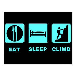 Eat Sleep Climb T-shirt and gift design Postcard
