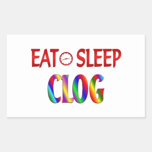 Eat Sleep Clog Stickers