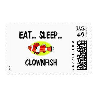 Eat Sleep CLOWNFISH Postage Stamps