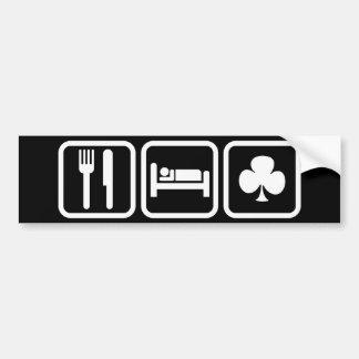 Eat Sleep Clubs Bumper Sticker