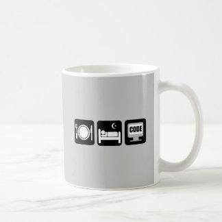 eat sleep code coffee mug