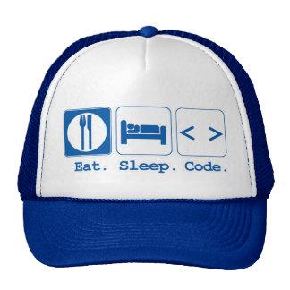eat sleep code html hats
