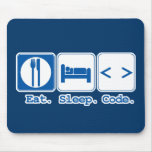 eat sleep code (html) mousepads