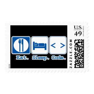 eat sleep code (html) postage