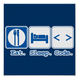 eat sleep code (html) poster