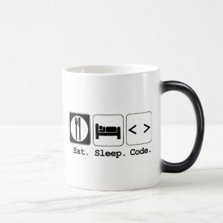 eat sleep code magic mug