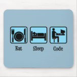 Eat Sleep Code Mouse Pad
